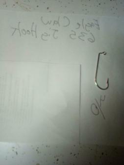 100-Eagle Claw 635 4/0 jig hooks 90 degree bend