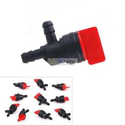 "10pcs 1/4"" 90 Degree InLine Fuel Gas Shut-Off Outdoor Small"