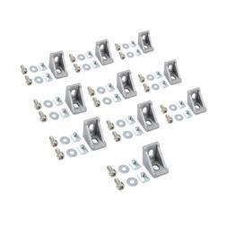 10Pcs Right Angle Brackets 90 Degree Aluminum L Shape Profil