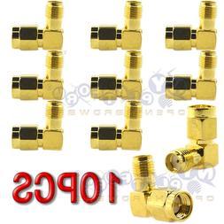 10Pcs SMA Male To SMA Female RF Connector Adapter Plug Jack