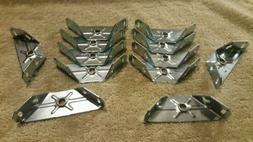 12 - Solid Metal 90 degree Angled Corner Brace Support Brack