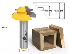Yonico 15129 Small Lock Miter Router Bit with 45-Degree 1/2-