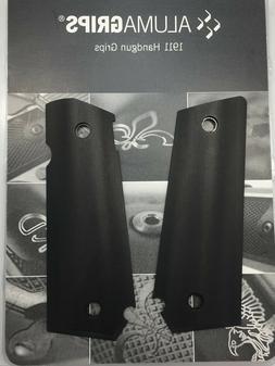 ALUMAGRIPS 1911 FULL SIZE SLIMLINE BOBTAIL SMOOTH AMBI-CUT G