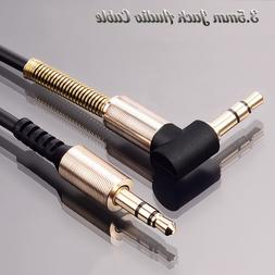 1m 3.5mm Jack Audio Cable Adapter Male To Male 90 Degree Rig