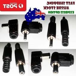 2/10pcs 3.5x1.3mm 5.5x2.1mm/2.5mm Male Plug DC Power Adapter