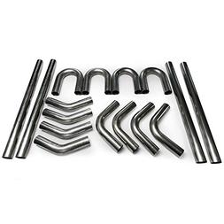 """2.5"""" Squirrelly Universal 304 Stainless Steel Mandrel Bent D"""