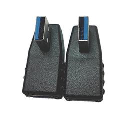 2-Pack, Super Speed USB 3.0 Vertical Left Angle and Right An