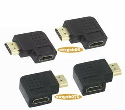 VCE 2 Combos HDMI 90 and 270 Degree Male to Female Vertical