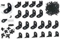 20 PCS Black Corner Brace 1x1x0.6 Inch, Right Angle Brackets