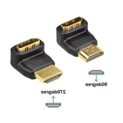 270/90 Degree Angle HDMI Male to HDMI Female for 1080P HDTV