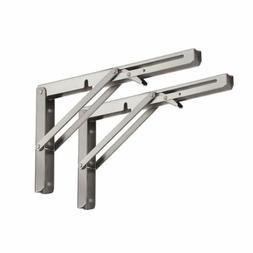 2pcs 8inch adjustable angle table wall folding