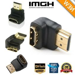 2pcs 90° Degree + 270° Degree HDMI Male to Female Right An