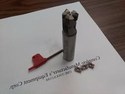 "3/4"" 90 degree indexable end mill 3/4""x3-1/2""  3 inserts San"