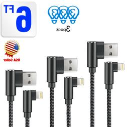 3 Pack 6ft 90 Degree iPhone Cable Right Angle Lightning Cabl