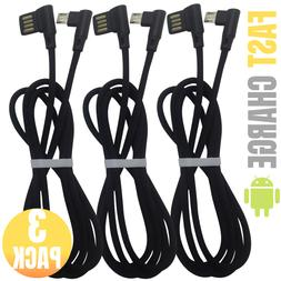 3 Pack Fast 90 Degree Right Angle Micro USB Charging Cable 3