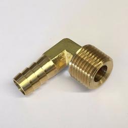 #32, 1/2 Male NPT x 1/2 Inch Hose Barb Brass Adaptor Fitting