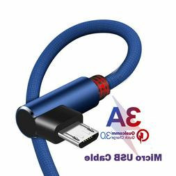 CXV 3A Micro USB Cable 90 degree Fast Charger For S6 Xiaomi