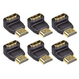 VCE 6-Pack 3D&4K Supported HDMI 90 Degree Male to Female Rig