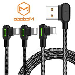 3 Pack Mcdodo 90 Degree  Cable Lot LED Fast Charge Data iPho