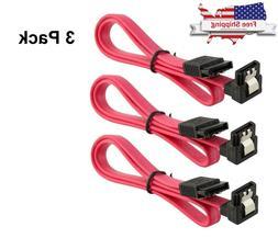 3pcs SATA 3.0 Cable SATA3 III 6GB/s Right Angle 90 Degree SS