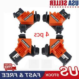 4Pcs 90 Degree Right Angle Clip Clamps Corner Holders Woodwo
