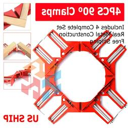 4PCS Metal Handle 90 Degree Right Angle Clamp Photo Frame Co