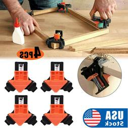4Pcs/Set 90 Degree Right Angle Clip Clamps Corner Holders Wo