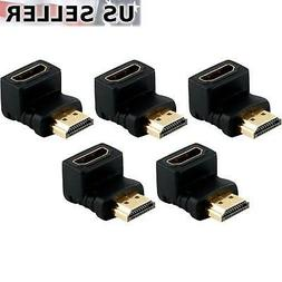HDMI Male to Female Right Angle Connector Adapter 90 Degree