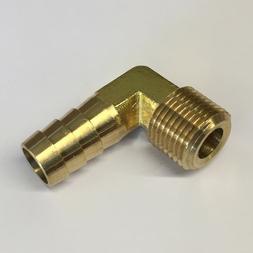 #64, 3/8 Male NPT x 1/2 Inch Hose Barb Brass Adaptor Fitting
