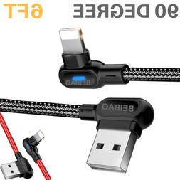 6Ft 90 Degree Elbow USB Heavy Duty Lightning Charging Cable
