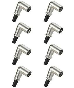 8x 3-Pin XLR Male Plug Right Angle 90 Degree Microphone Audi