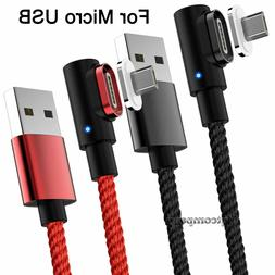 90 Degree Angle 3 6FT Fast Charge Micro USB Cable Rapid Powe