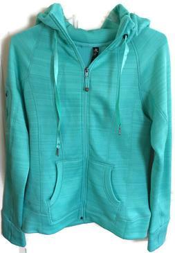 90 Degree by Reflex Full Zip Hoodie Sweatshirt Emerald Green