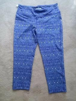 90 Degree by Reflex NWOT $58 Blue Snake Print Capri Active P