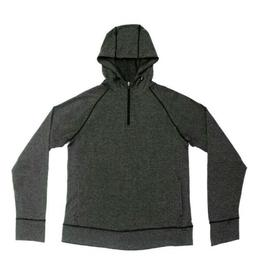 90 Degree By Reflex  Men Hoodie Pullover Charcoal Dark Gray