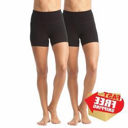 90 Degree By Reflex - Power Flex Yoga Shorts Small, Black