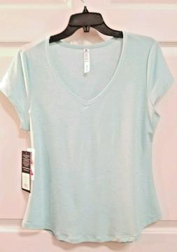 90 Degree By Reflex Tee Top Size M Aqua  Active Wear Athleti