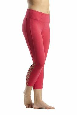 90 Degree By Reflex Womens Side Cut Out Capris