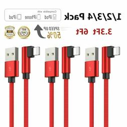90 Degree Charger Cord Lightning Cable for iPhone 11 Pro X X