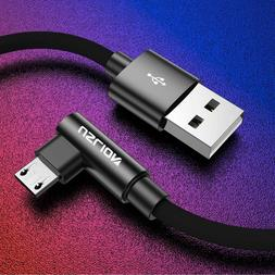 90 degree data sync phone cable micro