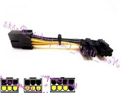 ➨➨➨ 90 Degree Female 8-Pin PCI-E to Two 6-Pin Video Ca