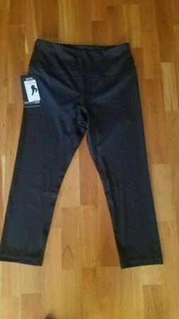 New 90 DEGREE High Waist Black Capri Pants Leggings Yoga Wom