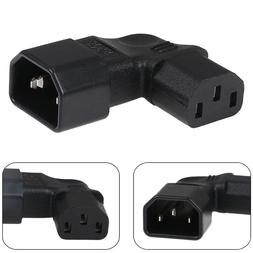 90 degree left angle IEC adapter plug IEC 320 C14 to C13 LCD
