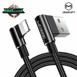 90 Degree Lightning to USB Cable 2.4A Fast Charging Cord for