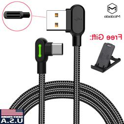 MCDODO 90 Degree Right Angle Braided USB Charger Charging Sy