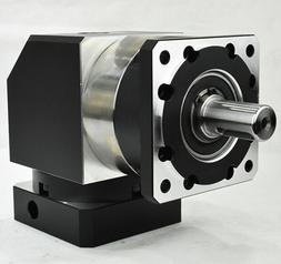 90 degree right angle planetary gearbox 10:1 for 750w AC ser