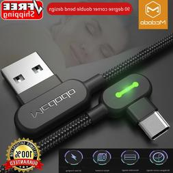 MCDODO 90 Degree Right Angle USB-C Type C Charging Cable Sam