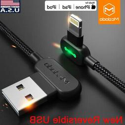 MCDODO 90 Degree Right Angle USB Charger lightning Cable App