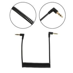 Right Angled 90 Degree 3.5mm Jack Male To Male Spring Stereo