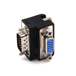 90 Degree Right Angled VGA Male To Female Extension Extender